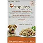 Applaws Natural Dog Food, Multipack, Finest Collection,In Jelly Pouch, 100g (Total Pack of 20) 15