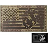IR Multicam Infrared USMC Semper Fi Marines USA Flag Tactical Morale Fastener Patch