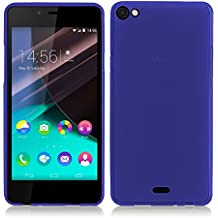 TBOC® Funda de Gel TPU Azul para Wiko Highway Pure 4G de Silicona Ultrafina y Flexible