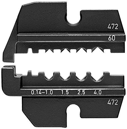 Knipex 97 49 60 Profil de sertissage pour Contacts tournés (HTS + Harting), Noir