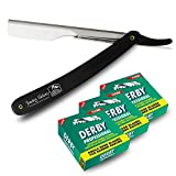 Shaving Factory Rasier-Set for Barbiere, Derby Professional Single Edge Razor Blades und Shaving Factory Straight...