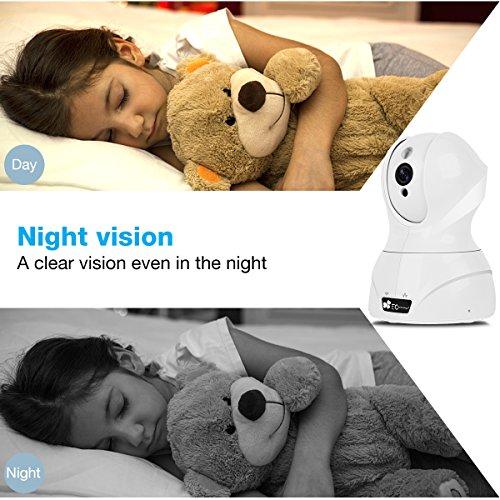 720P HD Wireless Wlan/Wifi IP Kamera von EC Technology Schwenkbare Indoor Baby Monitor Heim Home Security Überwachungskamera mit Bewegungserkennung - 4