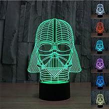 SmartEra® Ilusión óptica 3D de Star Wars Darth Vader 7 tipos de colores Cambiar fantástico Botón táctil USB Escritorio LED de luz / lámpara de tabla