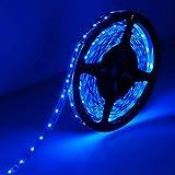 LE Lampux Strisce Flessibili LED, 12V, Blu, 300 Unità 3528 SMD LED, Non Impermeabili,Illuminazione Fai-da-te Perfetta, Confezione da 5 Metri