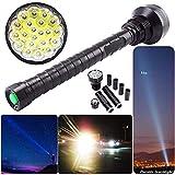 PowerFul-LOT Lampe de Poche Tactique Puissante Tres Puissante 28000LM XM-L LED 21x T6 Super Lampe de Poche Lampe Torche 5 Mode 26650 18650