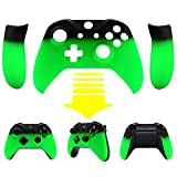 eXtremeRate Xbox One X/S Schutzhülle Soft Touch Obere Case Hülle Cover Schale Gehäuse mit 2 Seitenteilen für Xbox One S/Xbox One X Controller(Grün)