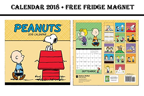 PEANUTS SNOOPY DOG OFFICIAL CALENDAR 2018 + GERRY ANDERSON THUNDERBIRDS FRIDGE MAGNET