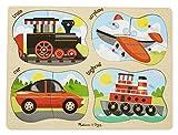#9: Melissa & Doug 4-in-1 Peg Vehicles Puzzle