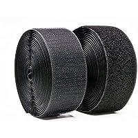 Yolito 50MM × 5M Rouleau Crochet et boucle Coudre Bandes (Non Adhésif) Les deux Côtés Inclus, Noir
