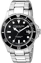 Stuhrling Original Herren-Armbanduhr Aquadiver Regatta Espora Analog Quarz 417.02