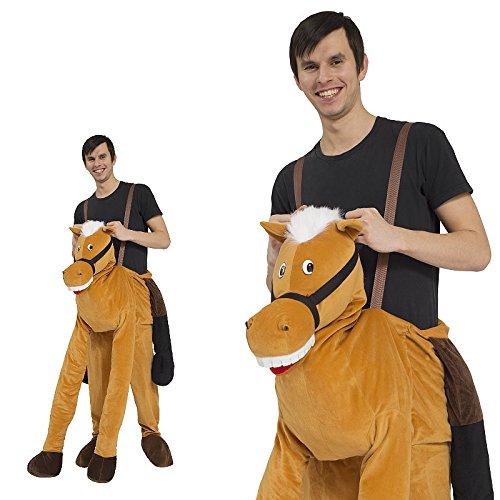 Piggyback Kostüm Herren Pferd Reiter Cowboy Ride On Maskottchen JGA Stag Night Huckepack - Zwei Pferd Kostüm Für