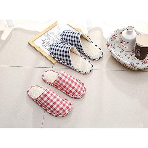 KINDOYO Hiver Chaud maison Pantoufles Peluche Chaussons Hommes / Femmes Coton Confortable Chaussures Rose