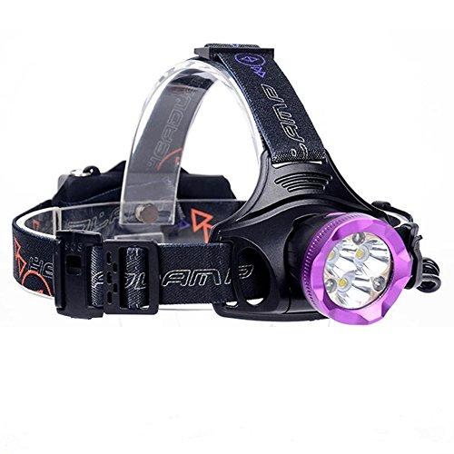 LED Stirnlampe, Ulanda USB Wiederaufladbare LED Kopflampe, 6000 Lumen Wasserdichter Scheinwerfer Taschenlampe mit 4 Lichtmodi, Perfekt für Laufen, Camping, Wandern, Jagd