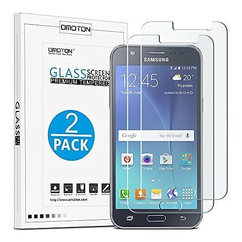 [2-Pièces] Samsung Galaxy J5 2015 Clair Film Protection D'écran En verre Trempé OMOTON Protecteur
