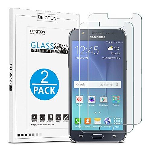 Glaxy J5 2015 Cristal Templado OMOTON[2-Unidades]Protector de Pantalla Samsung Galaxy J5 2015...