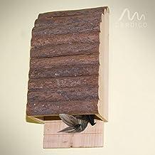 Casa para murciélagos de Gardigo en colores de madera natura, hotel para murciélagos, casitas nido para murciélagos