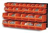 Patrol Group - Panel perforado con 30 cajas de almacenamiento de 3 tamaños