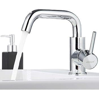 Ubeegol Messing Chrom Wasserhahn Bad Armatur 360° Drehbar Waschtischarmatur  Einhebelmischer Badarmatur Waschtisch Waschbeckenarmatur Waschbecken ...