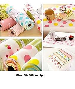 Skywalk PVC Anti-slip Cupboard Liner Mat, 60x300cm (Multicolour)