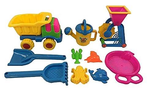 Lot de jouets de plage pour enfant - 10 pièces