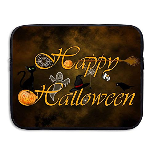ASKSWF Computertasche Laptop Sleeve Case Protective Bag Happy Halloween Printed Ultrabook Briefcase Sleeve Bags Cover for 15 Inch MacBook Pro/Notebook/Acer/ASUS/Lenovo Dell/Women/Men