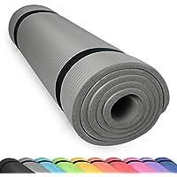 diMio Esterilla para yoga con correa de transporte, libre de ftalatos + testada por SGS, color Gris urbano, tamaño 185 x 60 x 1.5 cm, 2.09, 72.83 x 23.62 x 0.59inches