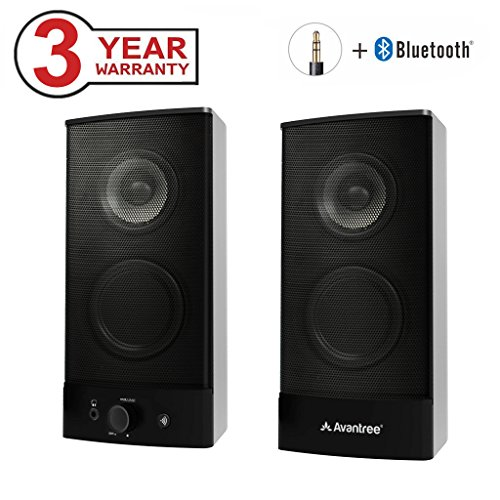 Avantree Wireless & Wired Desktop Lautsprecher Computer Bluetooth, Multimedia Lautsprechersystem Speakers mit 3,5mm AUX für PC, Laptop, Notebook, Mac, TV und Handy - SP750 [3 Jahre Garantie] (Lautsprecher Computer Wireless)