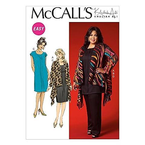 McCall's Patterns M7029 Women's Jacket, Dress and Pants, KK (26W-28W-30W-32W)