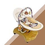 Baby Elektro Schaukelstuhl Komfort Stuhl Baby Schlaf Artefakt Schlaf Cradle Bett Kind Automatische Intelligente Shaker (Farbe : Coffe)