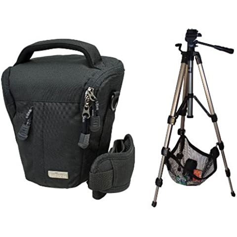 Foto Borsa Camera Bag, Colt Black Stone L in Set con treppiede da viaggio