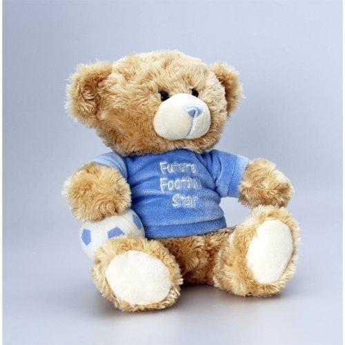 Keel Toys Cuddles Football Bear Soft Toy - 25cm by Keel Toys