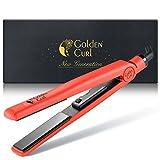 Golden Curl Glätteisen GL829 Haarglätter alle Haar Typen – 5 Jahre Garantie – Profi Hair Straightener zum Glätten und Locken (Rot)