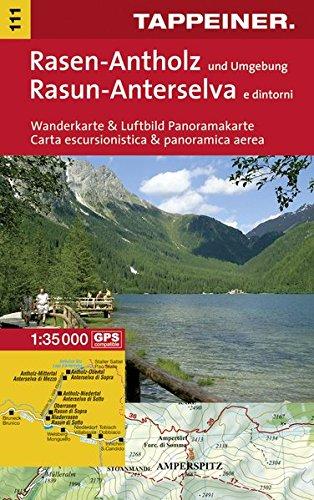 KOKA111 Kombinierte Wanderkarte Rasen-Antholz (Kombinierte Sommer-Wanderkarten Südtirol) par Tappeiner