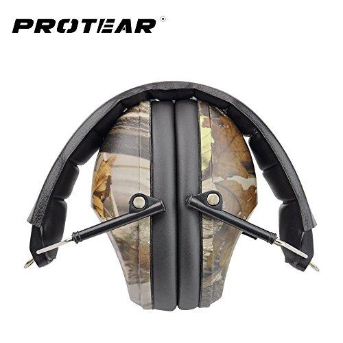 Schießen / Jagd Gehörschutz - Noise Cancelling Gehörschutz, Leichter Gehörschutz über Ohr 27 dB - Einstellbare Gun Range Gehörschutz, Camouflage
