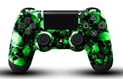 Custom PS4 Controller - Green Skullz