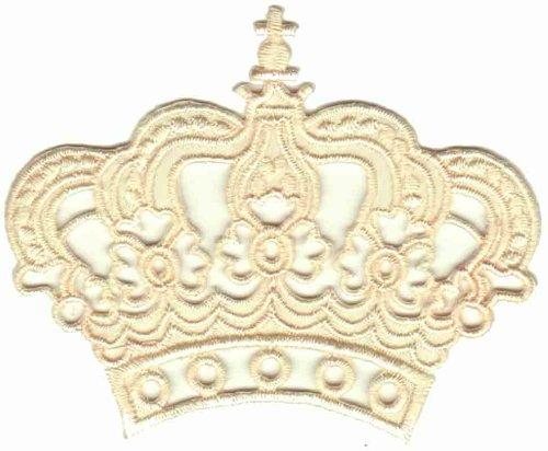 vanille-gelb-krone-aufnaher-bugelbild-aufbugler-iron-on-patches-applikation-prinzessin-konigin