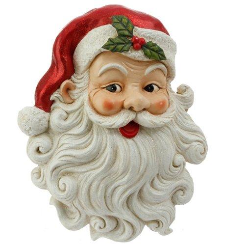 RAZ Imports Wandschild, Motiv Jolly Santa Claus mit Glitzer-Bart -
