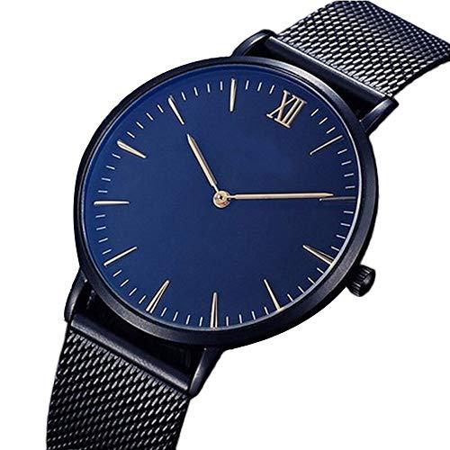 Damen Quarzuhr ultradünne Armbanduhr für Damen und Herren Classic Minimalistisches Design mit Edelstahl Mesh Armband Uhren Elegant Kleid Uhr Männer Frauen Legierungsband Anolog Armbanduhren (schwarz)