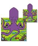Mermaid, robot spiaggia poncho con cappuccio, 100% cotone telo da bagno, nuoto, scuola Octopus