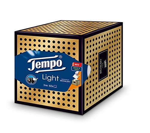 "Tempo \""Light Box\"" Papiertücher, Würfel-Box mit Taschentüchern, 1 x 60 Tücher"