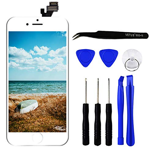 Iphone 5 Touchscreen (TPEKKA LCD Touchscreen für iPhone 5 Display Ersatz LCD Bildschirm Front Komplettes Glas Panel Digitizer Display mit Reparatur Set Werkzeuge für iPhone 5 DIY Weiß, 4 Zoll)