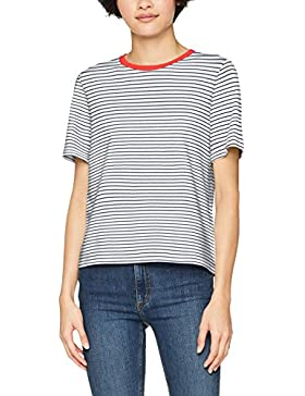 Only Onllive Love Trendy Stripe SS Oneck Noos, Camiseta para Mujer