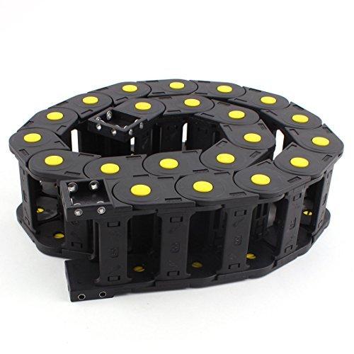 DealMux Kunststoff Kabelschlepp-Draht-Schnur Träger 60mm x 25mm 1M Länge Schwarz