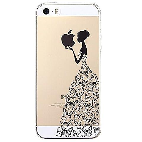 iPhone 5 5S SE Coque , YIGA Noir sexy Femme