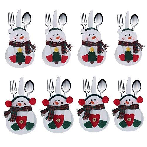 Xiton 8pcs Decoracion Navidad Papa Noel Adornos Cocina