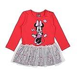 Disney Niñas Minnie Mouse Vestido, Rojo, Talla 92, 2 Años