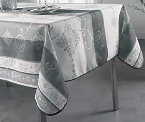 Douceur d'Intérieur Festive Nappe Gris 150 x 300 cm