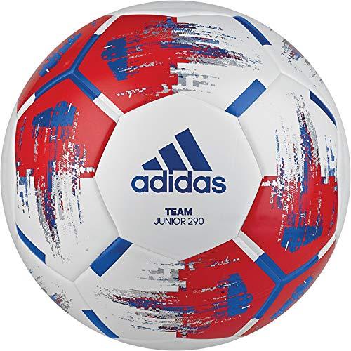 adidas Herren Team Junior Ball Fußball, White/Red/Blue/Silvmt, 4