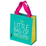 """Happy Jackson """"Awesome"""" Little Tote Bag - Turquoise"""