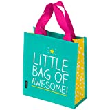 "Happy Jackson ""Awesome"" Little Tote Bag - Turquoise"